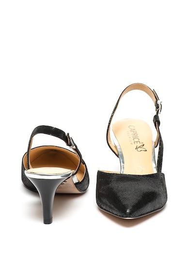 Caprice Pantofi slingback de piele cu toc kitten si varf ascutit Femei
