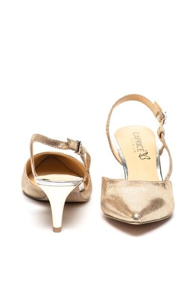 Caprice Кожени обувки с отворена пета, остър връх и котешки ток Жени