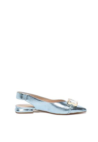 Tosca Blu Pantofi slingback de piele, cu varf ascutit si strasuri Domino Femei