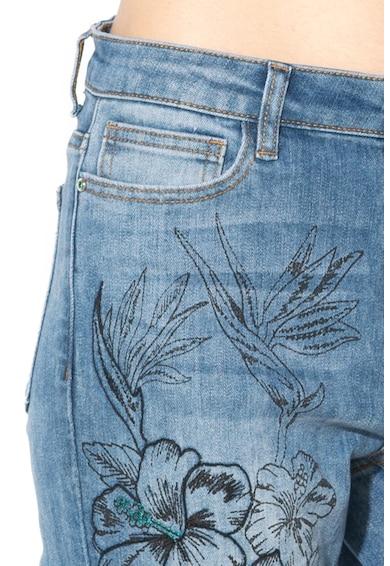 DESIGUAL Blugi skinny cu broderii florale Hibiscus Femei