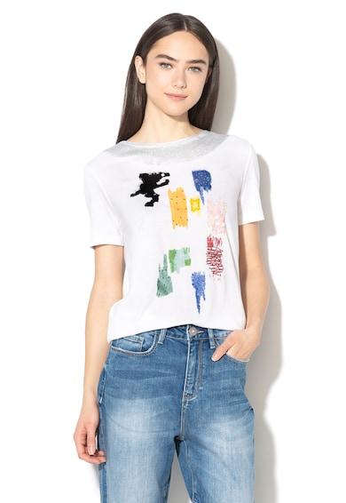 DESIGUAL Canterbury díszített modáltartalmú póló női