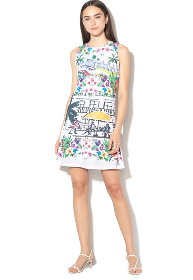 DESIGUAL Anna A-vonalú mintás ruha női