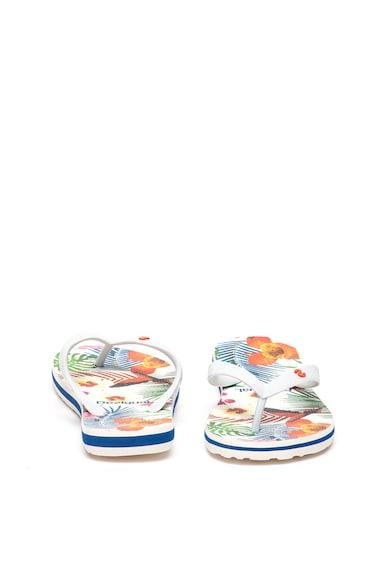 DESIGUAL Papuci flip-flop cu model tropical pe interior Femei