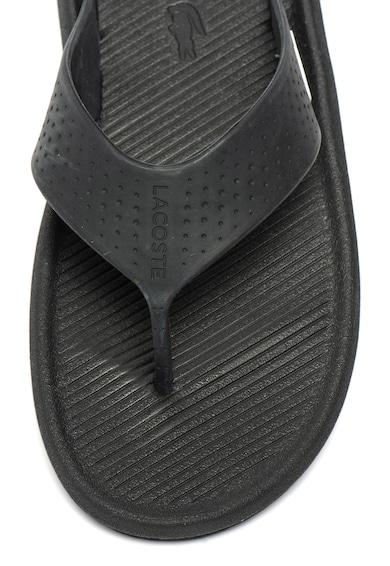 Lacoste Papuci flip-flop cu logo stantat Croco Barbati