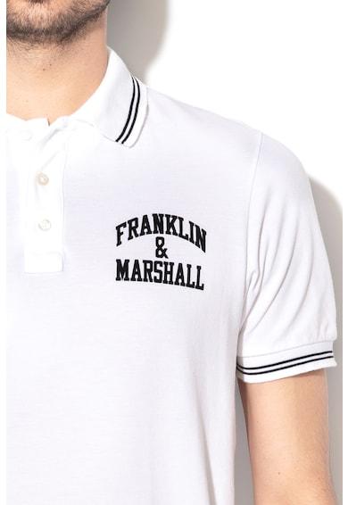 Franklin & Marshall Tricou polo din pique cu detaliu logo Barbati