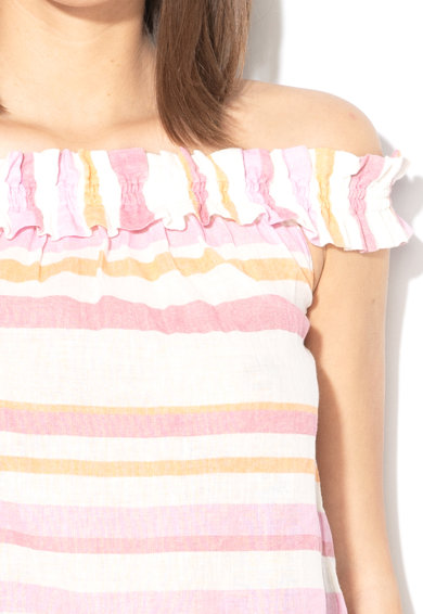 Vero Moda Top cu model in dungi si detalii plisate Tavi Femei