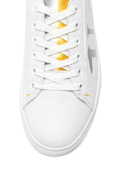 Trussardi Jeans Pantofi sport de piele ecologica cu detalii contrastante Femei