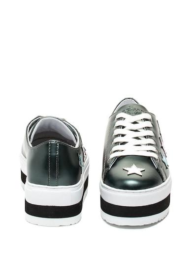 Trussardi Jeans Pantofi sport flatform de piele ecologica cu garnituri stralucitoare Femei