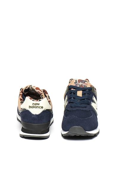 New Balance Pantofi sport cu garnituri de piele intoarsa 574 Baieti