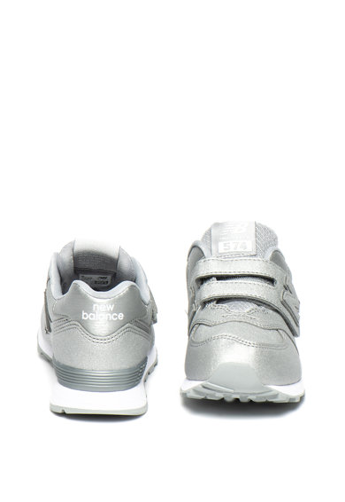 New Balance 574 tépőzáras sneaker fényes hatással Lány
