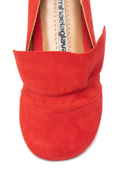 Mihaela Glavan Pantofi de piele intoarsa cu bareta velcro pe glezna Fete