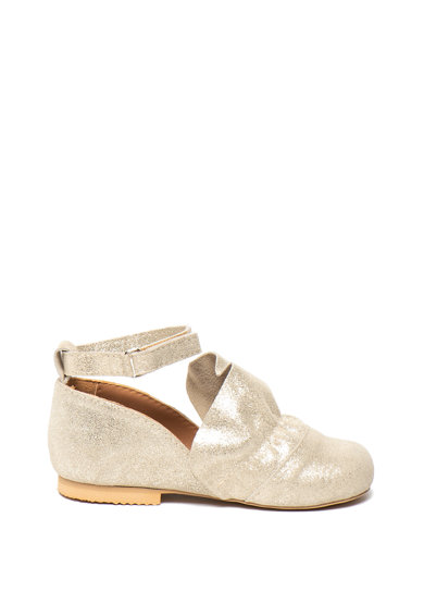 Mihaela Glavan Велурени спортно-елегантни обувки с бляскав ефект Момичета