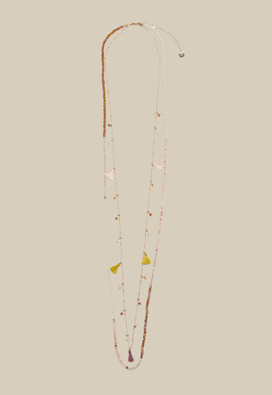 Motivi Dupla soros nyaklánc bojtos részletekkel női