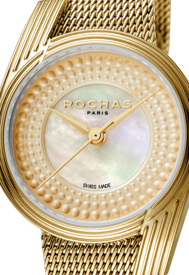 ROCHAS PARIS Ceas din otel inoxidabil, cu cadran mother of pearl Femei