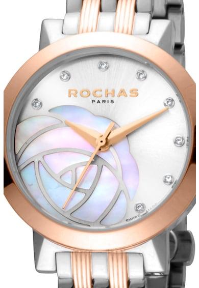 ROCHAS PARIS Ceas rotund decorat cu diamante Femei