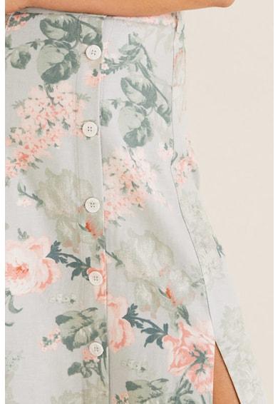 Mango Robe virágmintás lentartalmú szoknya női
