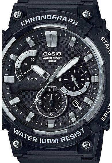 Casio Ceas cronograf cu cadran in carouri Barbati