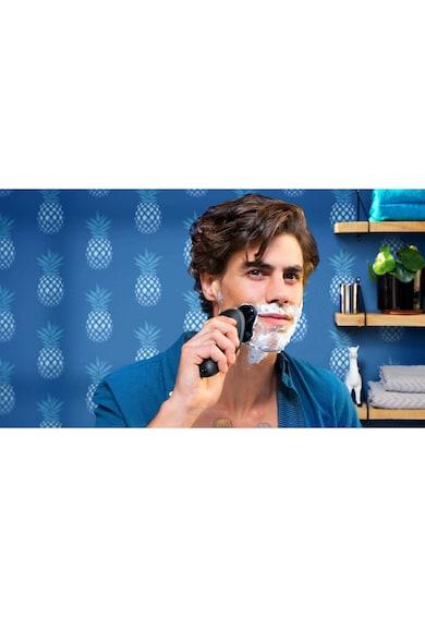 Philips Aparat de ras  /16, umed & uscat, aplicatie GroomTribe, senzor de adaptare la barba, lame GentlePrecision, accesoriu SmartClick, husa, Negru Barbati