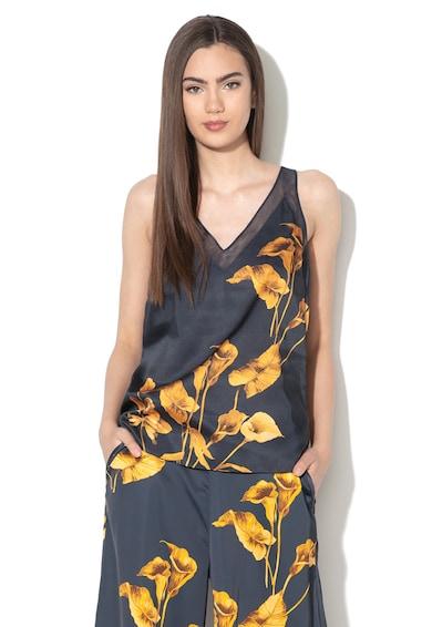 Ted Baker Top cu imprimeu floral si garnituri de plasa Innah Femei