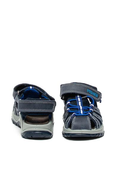 Primigi Sandale de piele nabuc, cu garnituri de plasa Baieti