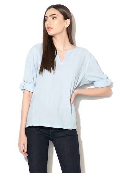 Esprit Bluza tip tunica in dungi, cu maneci ajustabile Femei