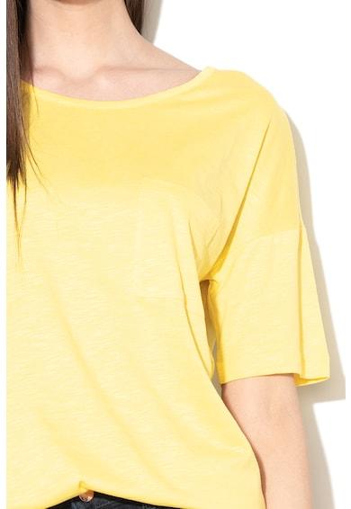 EDC by Esprit Tricou din amestec de modal, cu terminatie asimetrica Femei