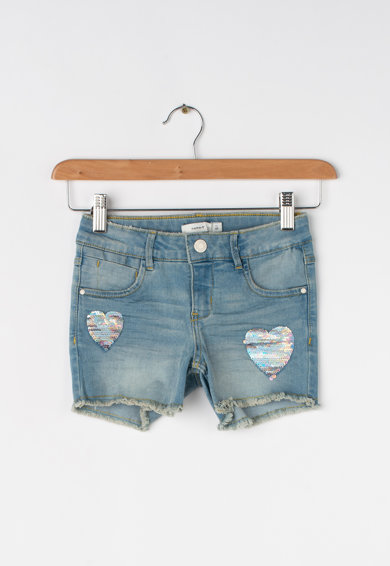 NAME IT Pantaloni scurti din denim cu paiete reversibile Salli Fete