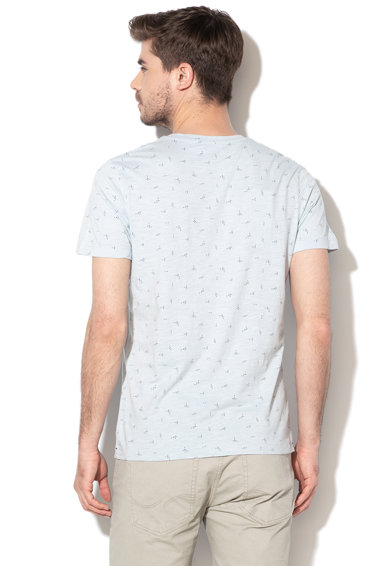 Selected Homme Tricou din bumbac organic cu imprimeu abstract Oliver Barbati