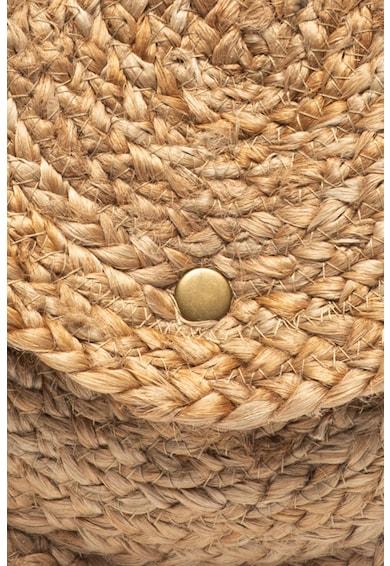 Pieces Geanta crossbody de iuta cu aspect impletit Ebbie Femei