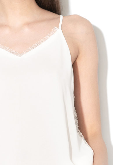 Only Top din material transparent, cu garnituri de dantela Ivana Femei