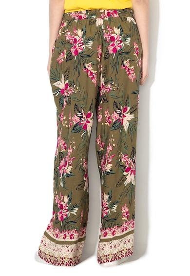 Vero Moda Pantaloni cu croiala ampla si model floral Havana Femei