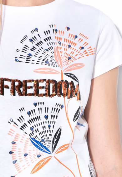 Sisley Tricou cu aplicatii din paiete Femei