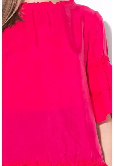 United Colors of Benetton Bluza cu maneci cu volane Femei
