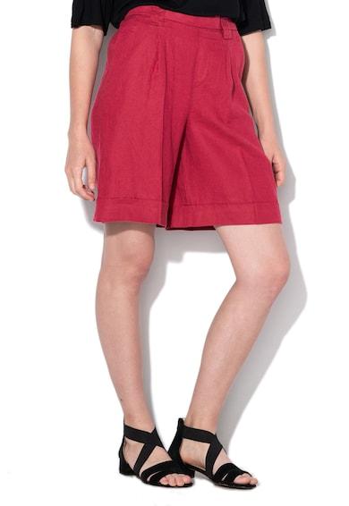 United Colors of Benetton Pantaloni scurti de in, cu terminatii pliabile Femei