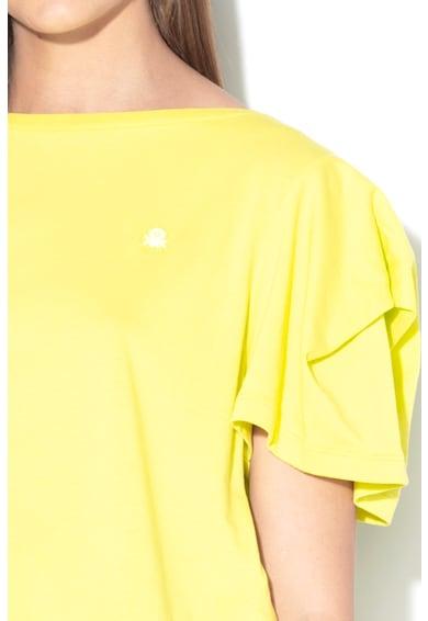 United Colors of Benetton Tricou crop din amestec de modal Femei