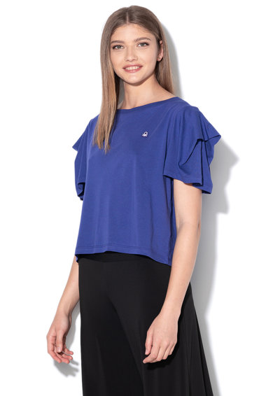 United Colors of Benetton Tricou crop din amestec de modal Femei