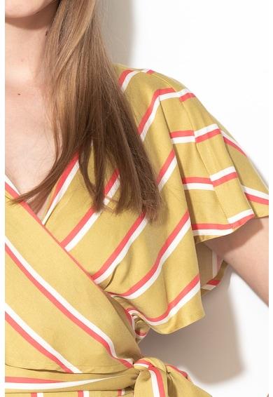 United Colors of Benetton Salopeta cu model in dungi si prindere cu snururi Femei