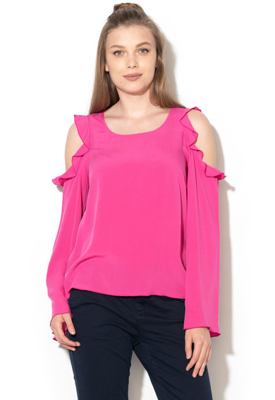 United Colors of Benetton Блуза с отвори на раменете и дипли Жени
