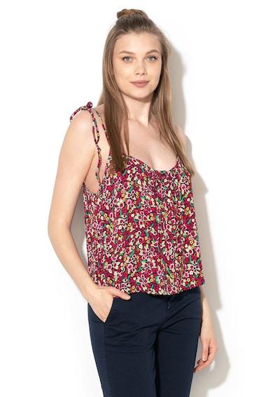 United Colors of Benetton Top cu imprimeu floral si barete inguste Femei