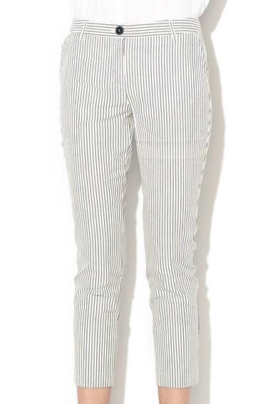 United Colors of Benetton Pantaloni chino slim fit cu model in dungi Femei