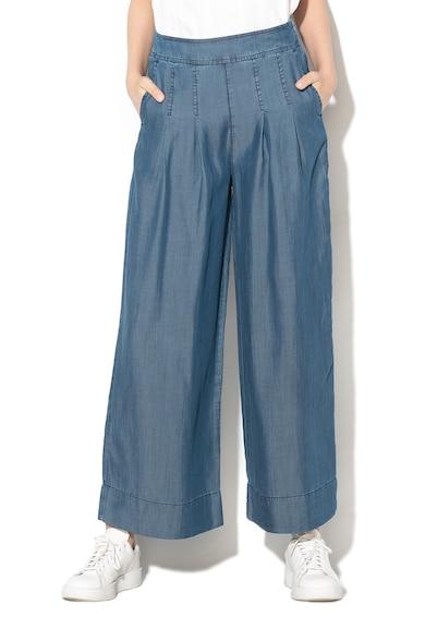 United Colors of Benetton Pantaloni din chambray cu croiala ampla si pliuri Femei
