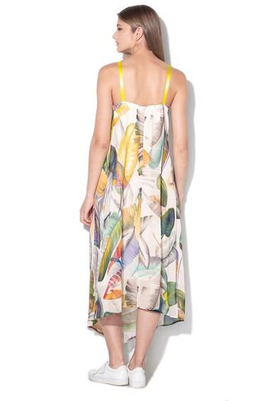 Sisley Rochie cu model tropical si terminatie asimetrica Femei