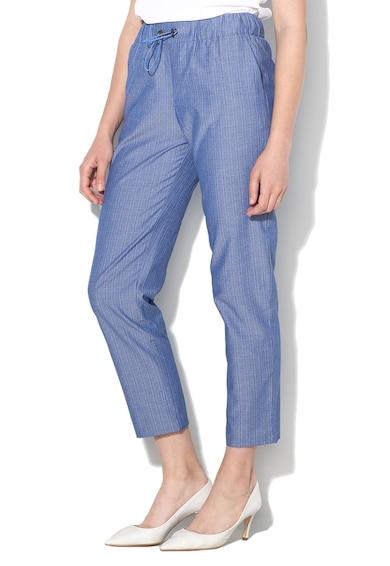 Sisley Pantaloni drepti cu model in dungi Femei