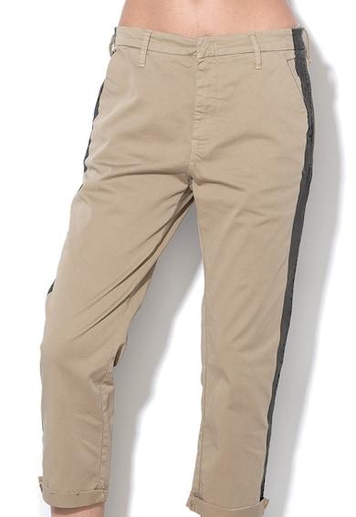 Replay Pantaloni chino slim fit cu terminatii nefinisate Femei