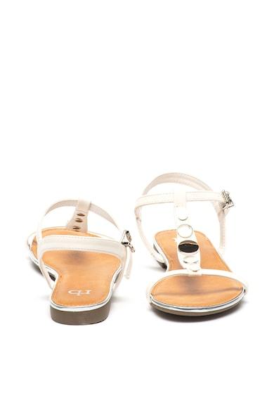 RB DI ROCCOBAROCCO Sandale de piele ecologica, cu aplicatii metalice Lorant Femei