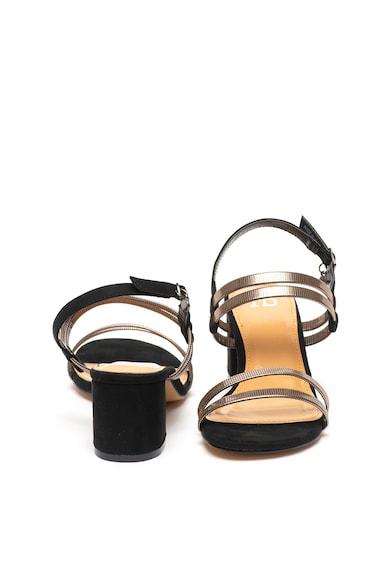 RB DI ROCCOBAROCCO Sandale de piele intoarsa ecologica, cu aspect metalizat Femei