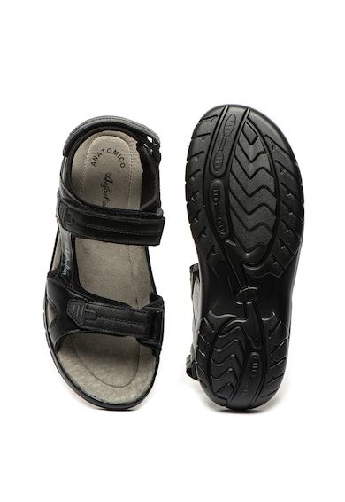 Australian Sandale de piele ecologica, cu velcro Barbati