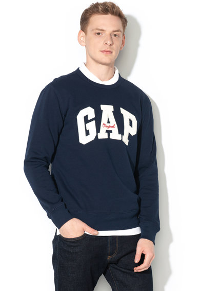 GAP Bluza sport cu imprimeu logo si decolteu la baza gatului 000852079 Barbati