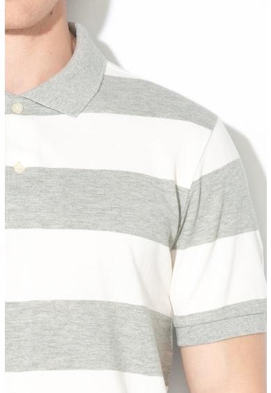 GAP Tricou polo din pique cu model in dungi Barbati