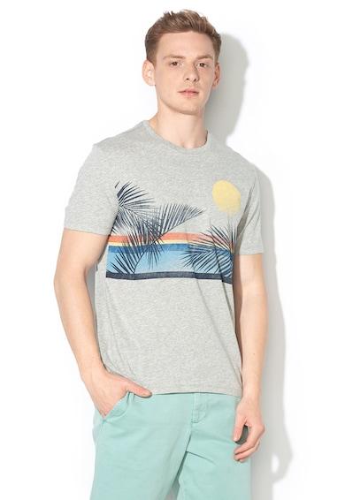 GAP csíkos póló trópusi mintával férfi